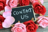 Contact us sign — Stock Photo