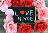 Message of love home — Stock fotografie