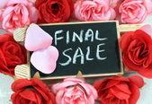 Segno di vendita finale — Foto Stock