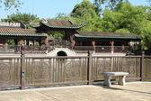 Chinese garden in Hong Kong — Stock Photo