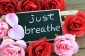 Message of just breathe — Stock Photo