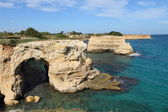 Coastal landscape in Apulia, Italy — Photo
