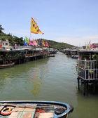 Kanal und stilt häuser von tai o in hongkong — Stockfoto
