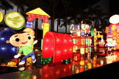 Chinese cartoon lanterns — Stock Photo