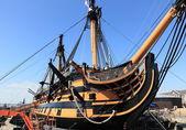 Portsmouth warship — Stock Photo