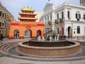 Macao landmark Senado Square — Stock Photo