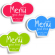 Stock Vector: Menu label