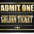 Golden ticket. Casino. — Vettoriale Stock #39169339