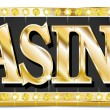 Stock Vector: Casino Write in gold shining font