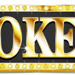 Stock Vector: Poker Write in gold shining font