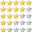 Stock Vector: Rating stars