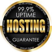 Golden hosting label — Stock Vector