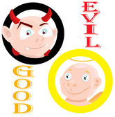 Goodness and evil — Stock Vector