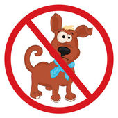 Dogs are not admitted — Stock Vector