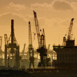 Harbor cranes — Stock Photo #38013209