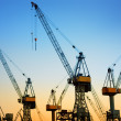 Hamburg Harbor Cranes — Stock Photo #39278063