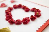 Srdce růží — Stock fotografie