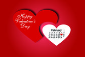 Happy Valentine's day Calendar — Vector de stock