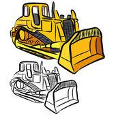Bulldozer — Stockvector