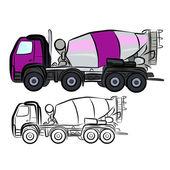 Concrete Truck Mixer — Stockvector