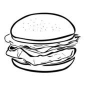 Hamburger — Stock Vector