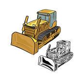 Bulldozer — Stock Vector