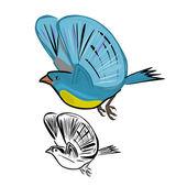 Ptaki latające — Wektor stockowy
