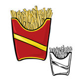 Fries pack — Stock Vector