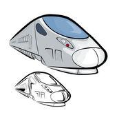 High Speed Train 2 — Stock Vector