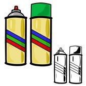 Lata de spray — Vetor de Stock