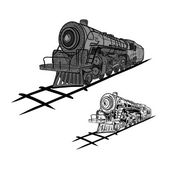 Steam locomotives — Stock Vector