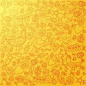 Kolorowe tło z pomarańczowym tle — Wektor stockowy