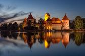 Zamek w trokach — Zdjęcie stockowe