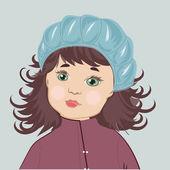 Girl portrait — Stock Vector