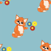 Pattern fox — Vettoriale Stock