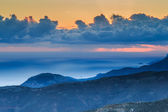 Ethereal mountain sunset at twilight — Stock Photo