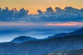 Ethereal mountain sunset at twilight — Stock Photo