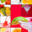 Colorful poster of party cocktails — Stock Photo