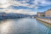 Lyon and the River Saone, France — Stock Photo