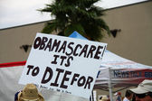 Obamascare Sign — Stock Photo