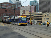 Minneapolis metro tren — Stok fotoğraf
