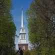 Old North Church and Statue — Stock Photo #38511081