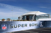 Super Bowl and Stadium — 图库照片