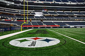 Super Bowl End Zone — Stock Photo