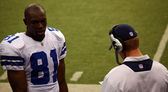 Terrell Owens and Jason Garrett — Stock Photo