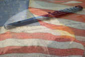 US Constitution, Flag and Eagle — Foto de Stock