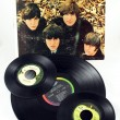 Stock Photo: Beatles LP and Singles