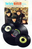 Beatles LP and Singles — Stock Photo