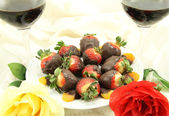 Wine Roses and Sweets — Foto de Stock