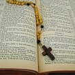 Stock Photo: Bible and Rosary